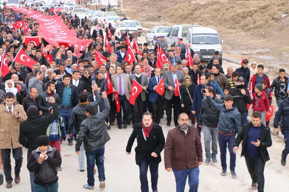 Harran'da Teröre lanet, birliğe destek yürüyüşü