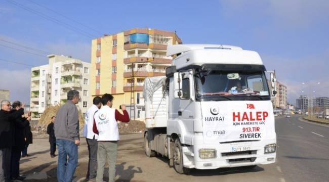 Hayrat İnsani Yardım Derneği'nden Halep'e yardım