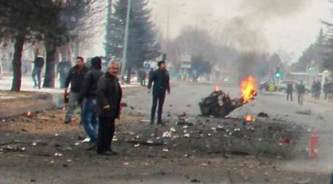 Kayseri'deki Bombalı Araç Urfa'dan çalınmış