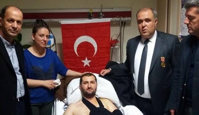 Şehit Aileler Derneğinden yaralı askerlere ziyaret