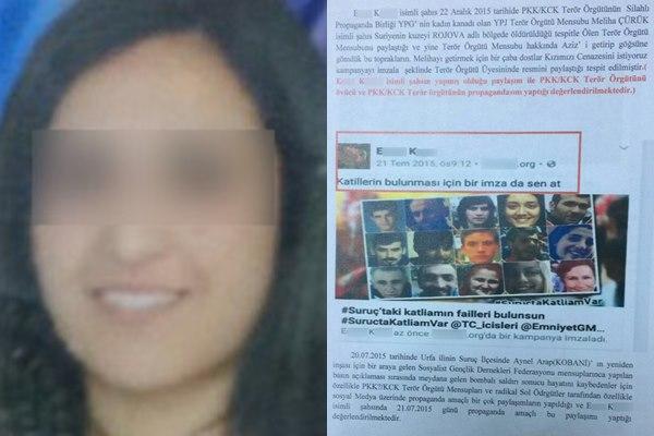 Sosyal Medya'dan Suruç paylaşımına tutuklama