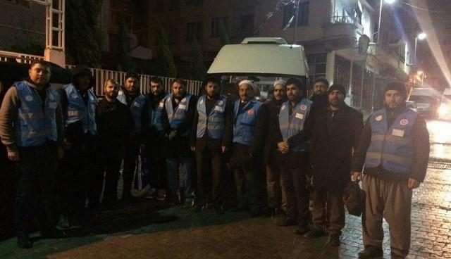 Urfa'da 20 gönüllü kişi Suriye'ye vardı