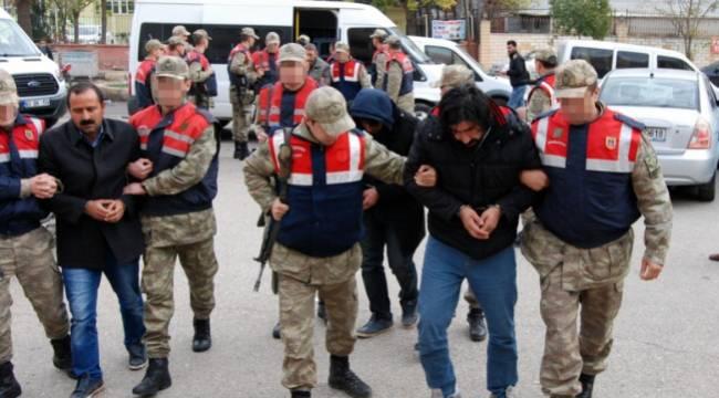 Urfa'da Gözaltına alınan 11 zanlı adliyeye sevk edildi