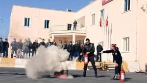 Urfa'da polislere yangın eğitimi