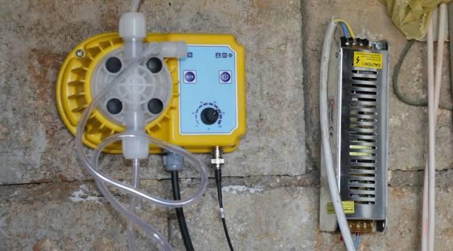 Urfa su depolarına klorlama cihazları monte ediliyor
