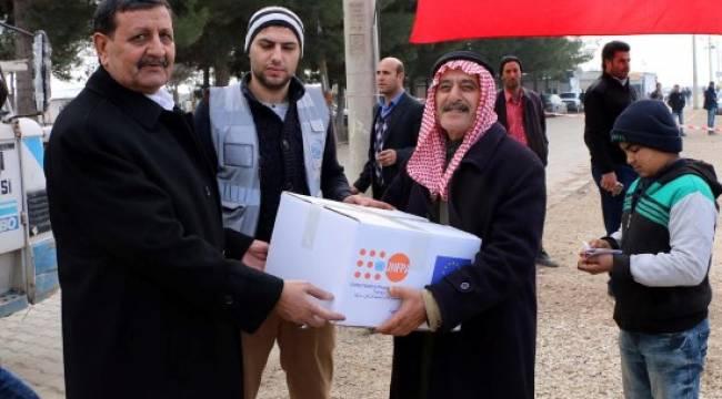 2 bin Suriyeli aileye yardım