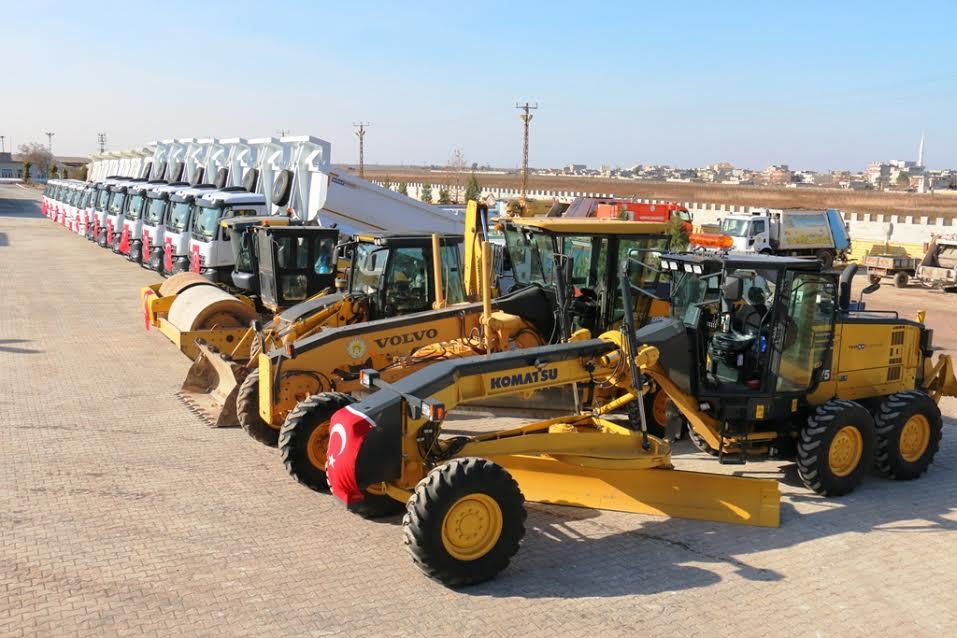 Akçakale Belediyesi Araç parkına 9 yeni takviye