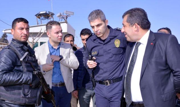 Atilla,Ceylanpınar polis kontrol noktasını ziyaret etti