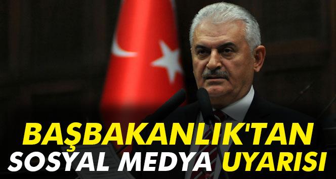 Başbakanlık'tan sosyal medya uyarısı
