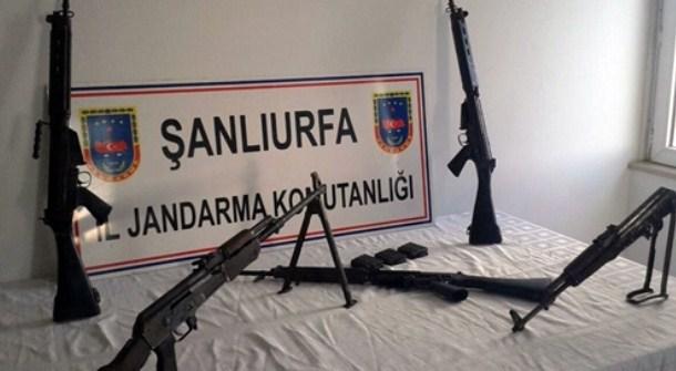 Birecik'te Uzun namlulu silahlar yakalandı