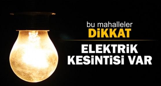Eyyübiye'de elektrik kesintisi uyarısı