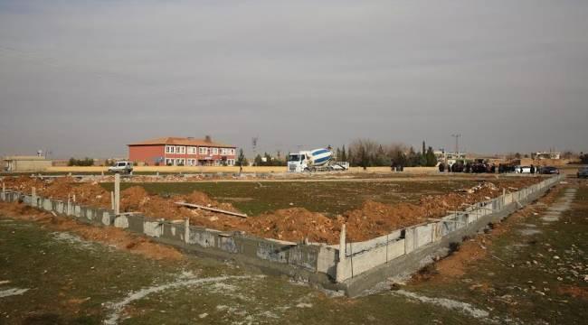 Geçit Mahallesi çim sahasının temeli atıldı (Video)