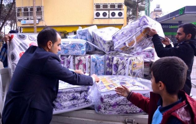 Halepli muhacirlere yardım kampanyası devam ediyor