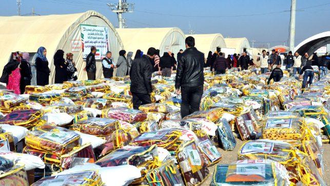 Kuveytli derneklerden 500 Suriyeliye Yardım