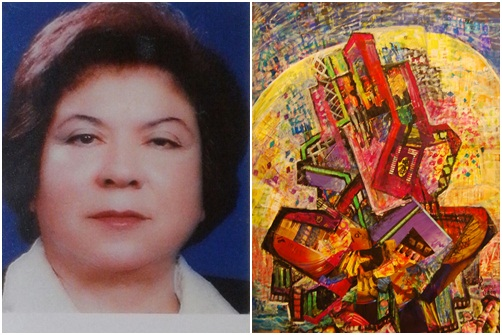 Resim Öğretmenin 4.Kişisel sergisini açıyor