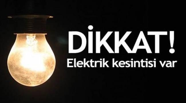 Şanlıurfa'da planlı elektrik kesintisi