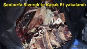 Siverek'te kokuşmuş et yakalandı