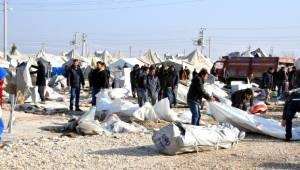 Suriyeli Mültecilerde Çadır sevinci (Videolu Haber)