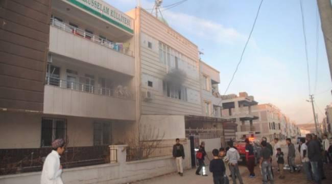 Urfa'da külliye yangını paniğe neden oldu