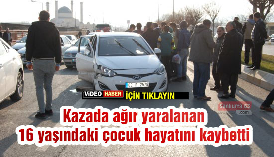Urfa'da otomobil yarışı canına mal oldu