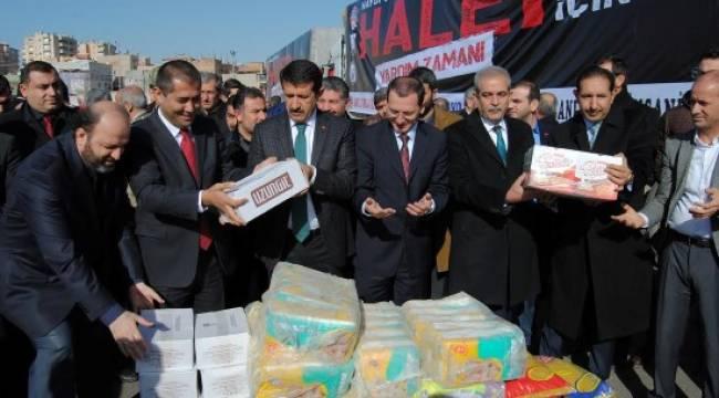 Yardımlar Halep'e gönderildi