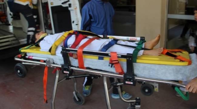 Antrenmanda düşen tekvandocu hastanelik oldu