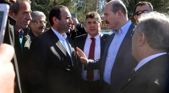 Bakan Soylu şehit İbrahim Kete'nin ailesini ziyaret etti
