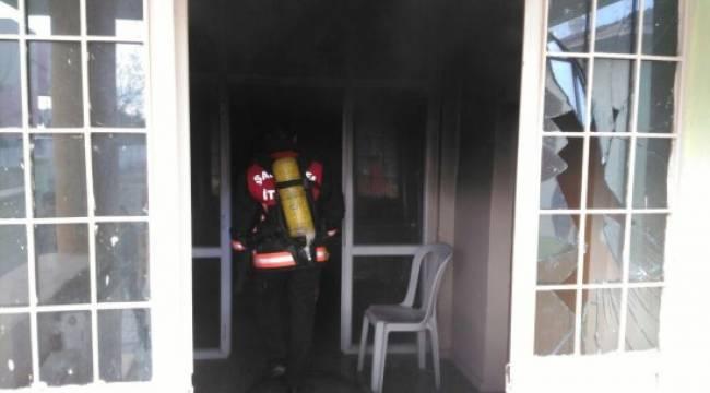 Halk eğitim merkezinde yangın