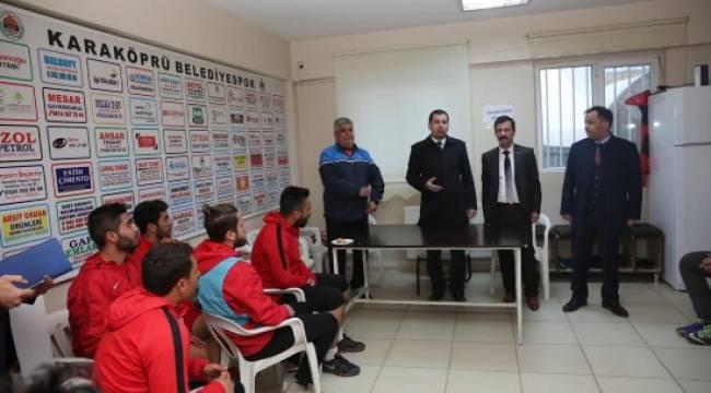 Karaköprü Belediyespor'a tebrik ziyareti - Video Haber