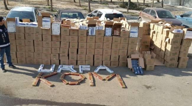 Şanlıurfa'da 101 bin 390 paket sigara ele geçirildi
