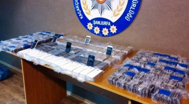 Şanlıurfa'da 750 adet kaçak telefon ele geçirildi