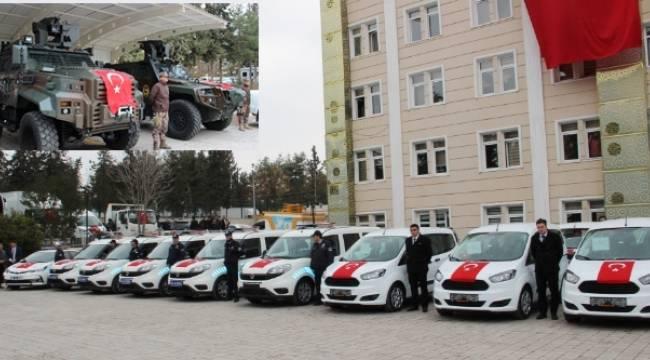 Şanlıurfa Emniyetine 4 Zırhlı 64 araç teslim edildi