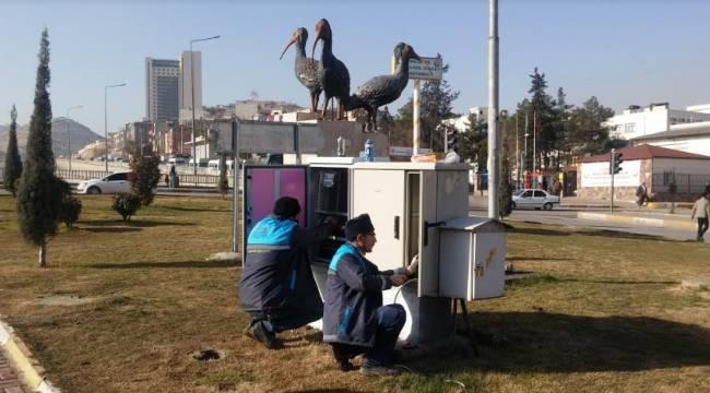 Urfa'da Elektrik kesilsede Trafik Işıkları yanacak