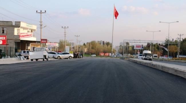 Akçakale'de 112 Acil Servis yolu asfaltlanıyor