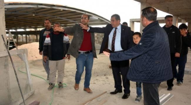 Ceylanpınar Özbek Semt Pazarı tamamlanıyor