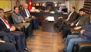 Gülpınar, Haliliye Belediyesini ziyaret etti
