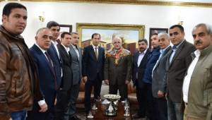 Şanlıurfa Türkmenler Birliği Vali Tuna'yı ziyaret etti