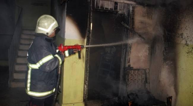 Şanlıurfa'da kibritle oynayan çocuklar bodrumu yaktı