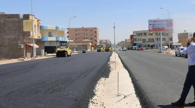 Ceylanpınar'da 2 ayrı bulvar sıcak asfaltla buluştu-Videolu Haber