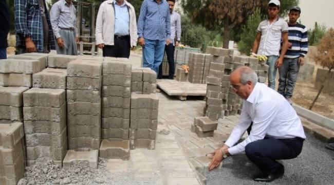 İlçe mezarlığında bakım onarım devam ediyor