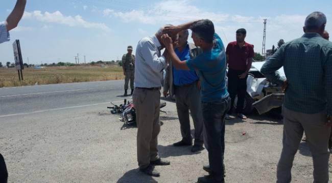 Suruç'ta Trafik Kazası 2 Yaralı