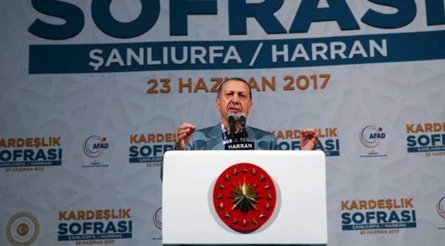 Cumhurbaşkanı Erdoğan, Şanlıurfa 430 bin Suriyeliye ev sahipliği yapıyor