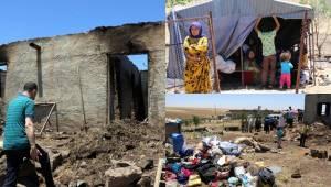 Evi yanan 6 kişilik aileye sahip çıktılar