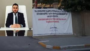 Karaköprü Belediyesi Başkan Yardımcısından Mezarlık açıklaması