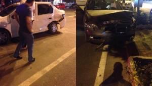 Karaköprü'de korkutan kaza, 1 Yaralı