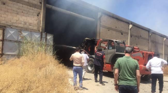 Şanlıurfa çırçır fabrikasında yangın