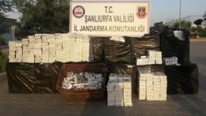 Akçakale'de 18 bin paket kaçak sigara ele geçirildi