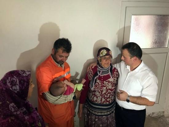Urfa'da 4 aylık bebek takılacak torbayla yaşama tutunacak