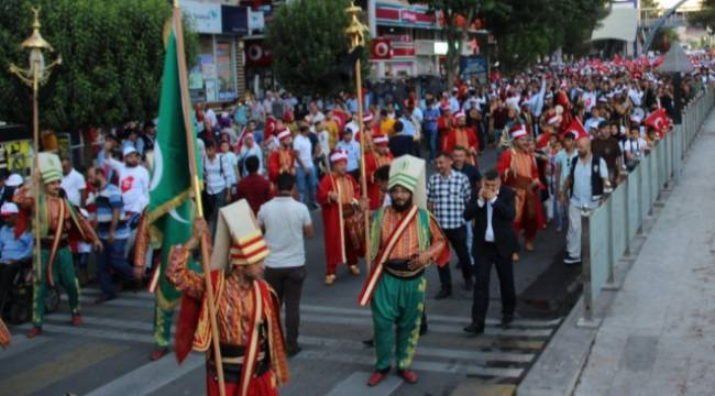 Binlerce Urfalı mehteran eşliğinde yürüdü