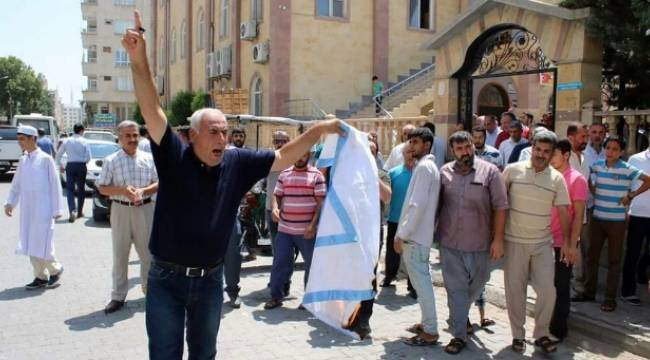 Birecik'ten İsrail'e tepki